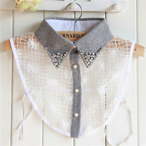 Elegant-False-Collar-Women-Grey-Diamond-Detachable-Shirt-Sweater-Fake-Collar-Fad