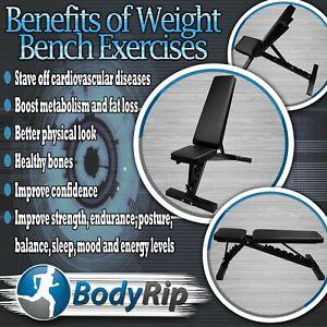Bodyrip Réglable Banc De Musculation Plat Inclinaison Déclin