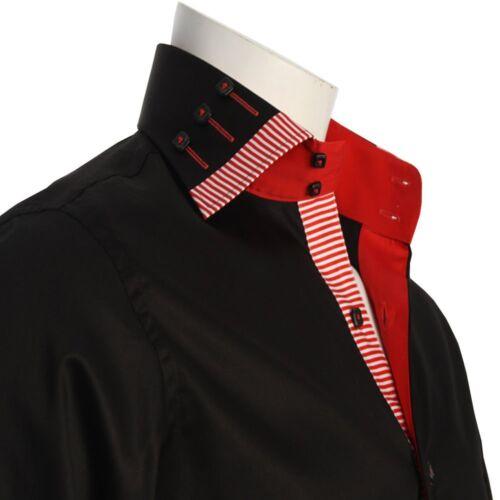 """Men/'s Formal Shirt Men Italian Shirts Dress Stylish Collar Luxury 14.5/"""" to 18/"""""""