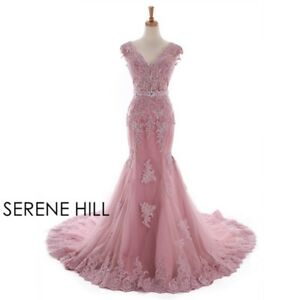 Long-Mermaid-Wedding-Dress-Red-Bean-Color-Beading-custom-size-6-16