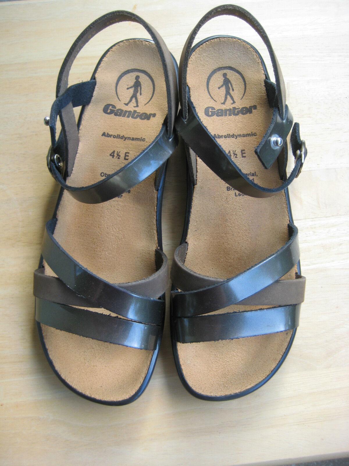Ganter  Sandale Größe 4,5- braun/metallic