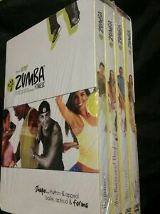 ZUMBA-FITNESS-4-VOLUME-DVD-BOX-SET-BRAND-NEW