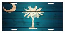 SOUTH CAROLINA State Flag  Custom License Plate State Emblem WOOD Version