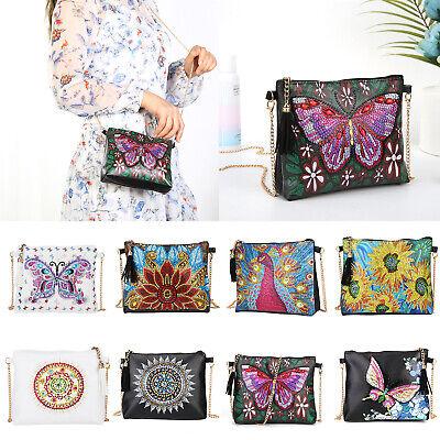 DIY 5D Diamond Painting Leather Chain Shoulder Bags Handbag Crossbody Bag Kits