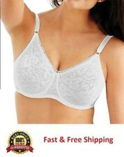 9d29ae7047 Bali Lace N Smooth Seamless Cup Underwire Bra 36C No slip Strap comfort-U  design