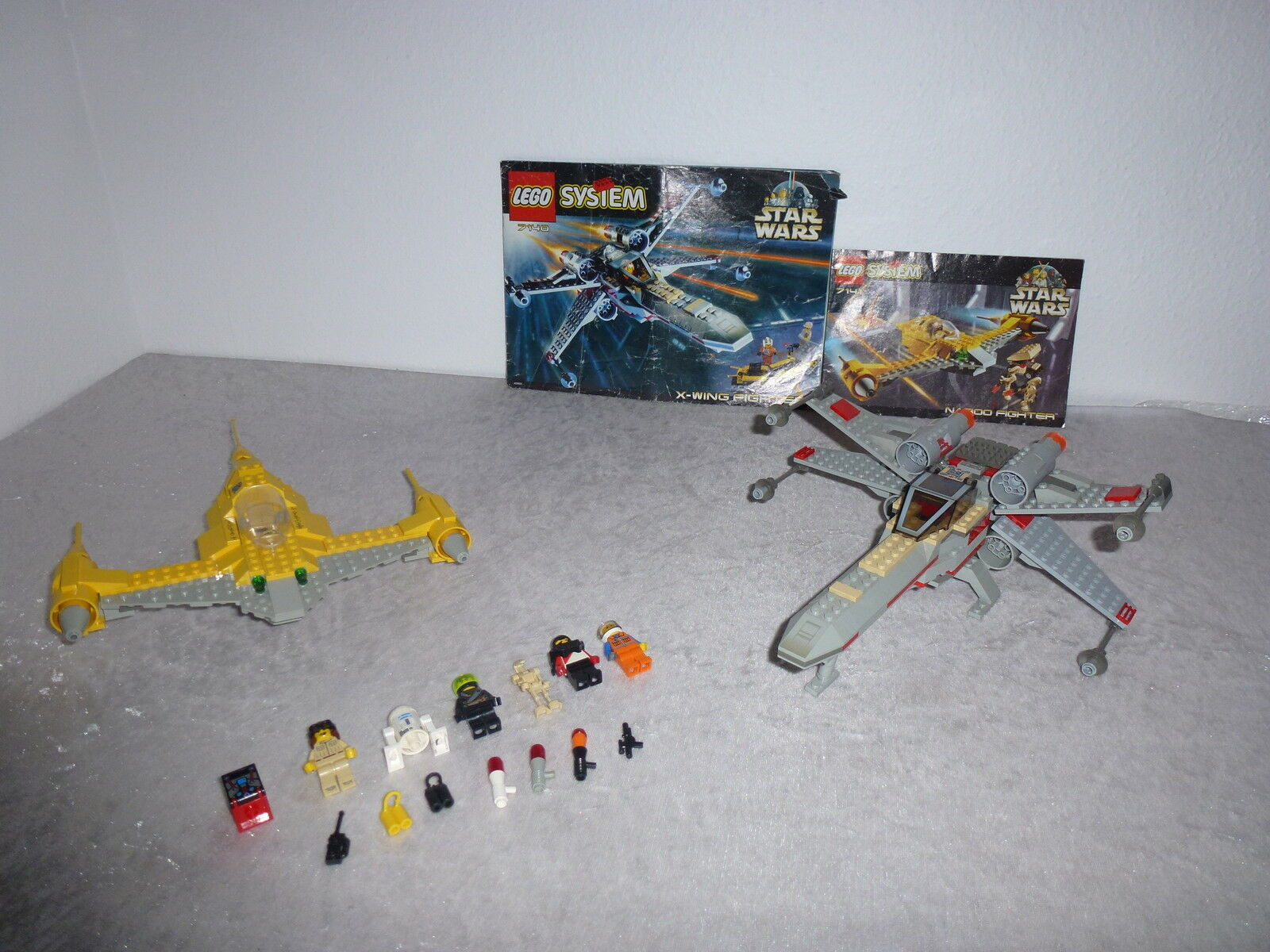 Lego Star Wars System 7140+7141 AUS DEM JAHR 1999 + OBA Rarität (12)