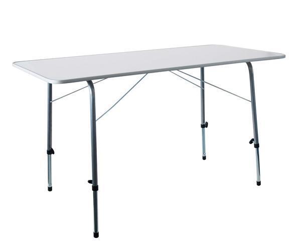 Campingtisch Bellavista klappbar Stahl Stahl Stahl 120x60x50-70cm weiß d86655