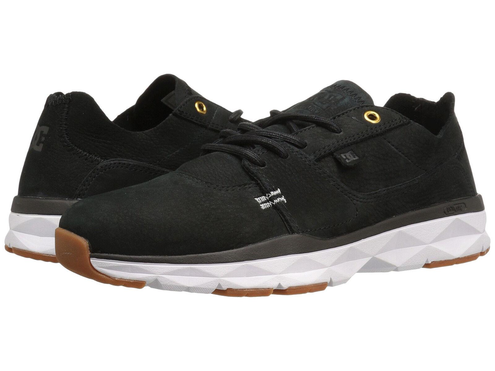 DC Men's Player Zero Sz US 14 M Black Nubuck Leather Sneakers shoes  105