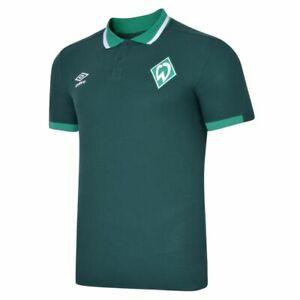 Umbro-Fussball-SV-Werder-Bremen-CVC-Poloshirt-2019-20-Polohemd-Herren-dunkelgruen