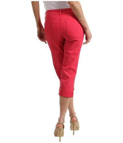 8p polsini 4p Rosa 16p strass con 14p Jeans Collo Petite Nydj Rosso Capri Alyssia per 10p xpwznC