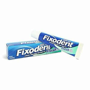 5 Pack - Fixodent Denture Adhesive Cream, Fresh Mint 2.40 oz Each
