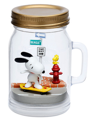 Snoopy SNOOPY /& WOODSTOCK Terrarium On Vacation Skate boarding Japan Re-Ment