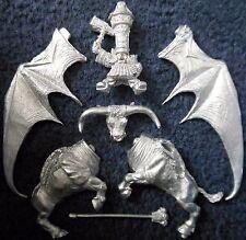 1992 Chaos Dwarf Lord on Great Taurus Citadel Warhammer Army Dwarves Dawi Zharr