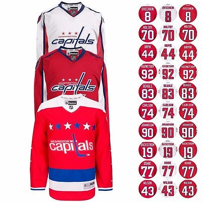 2016-17 Washington Capitals Reebok NHL Player Premier Jersey Collection - Men's