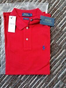 Original Polo Ralph Lauren Langarm-Polo Gr. S - Hemd in Rot im Classic Fit