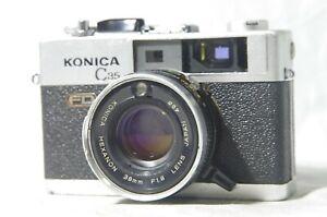 【EXC+5】 Konica C35 FD Rangefinder Film Camera Black 38mm f