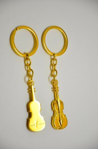 Group sale 10pcs Pack Golden Violin Keychain Perfect Gift