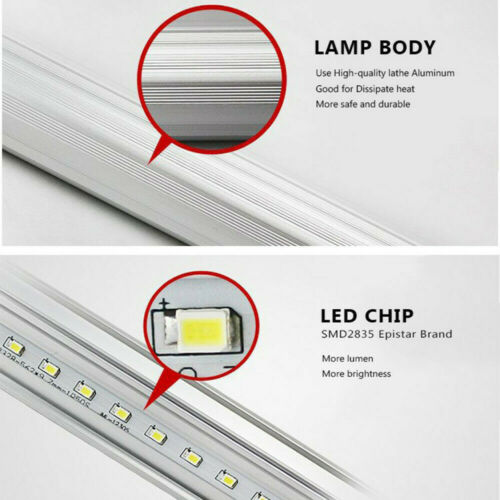 T5 T8 LED Tube Röhre Leuchtstoffröhre Lampe 3Farbe Dimmbar Licht Rohr 30cm-120cm