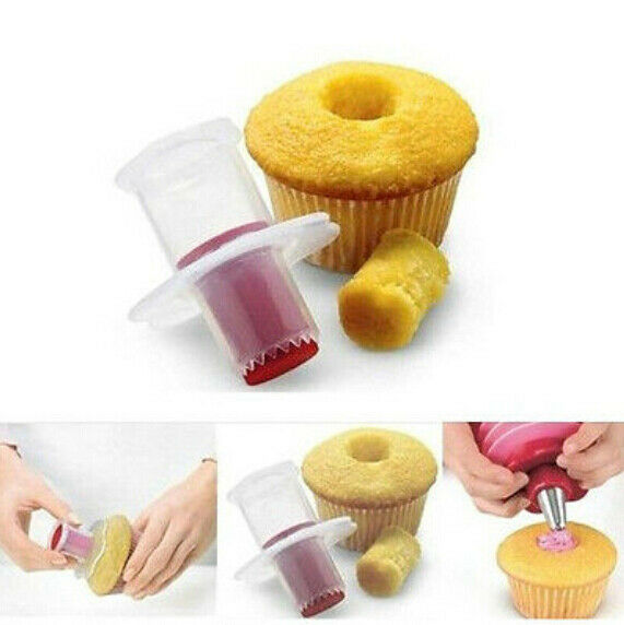 bb Cupcake Muffin Cake Corer Plunger Cutter Pastry Decorating Divider Model tool
