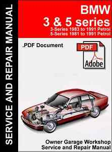 Bmw e30 e28 e34 repair manual (. Pdf file) | ebay.