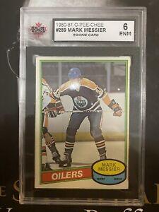 1980-81 O-Pee-Chee Mark Messier Rookie Card #250 KSA 6 ENM Excellent NM OPC HOF