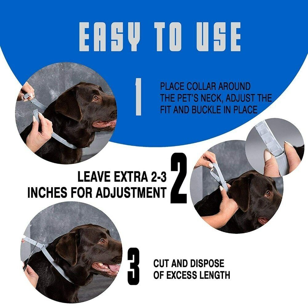 DEWEL Seisso Flea And Tick Control Collar for Medium Large Dog 1 Year Protection 7