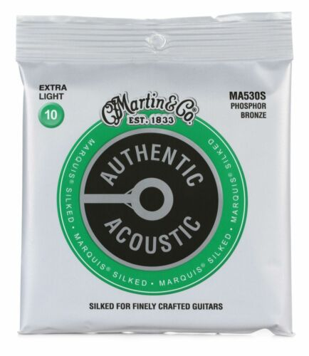 Martin Authentic Acoustic Marquis Silked Guitar Strings Phosphor Bronze 10-47