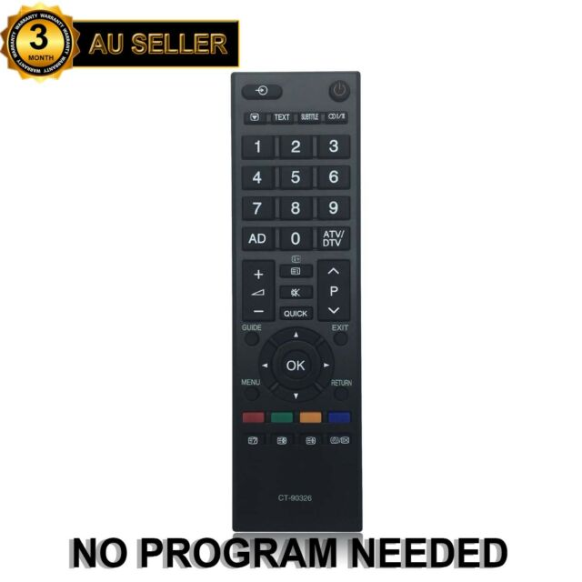 REPLACED CT-90326 CT90326 REMOTE CONTROL SUB CT-90329 for Toshiba Digital LCD TV