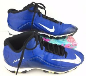 Men's Nike Alpha 719952-410 Size 10 Blue White Football Cleats Sneakers Shoes G7