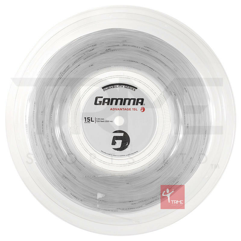 Gamma Advantage Tennis 15l/1.38mm Stringa Mulinello 220m 15l/1.38mm Tennis 3b461b