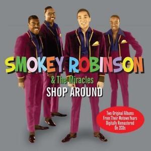 SMOKEY-ROBINSON-amp-THE-MIRACLES-Shop-Around-2X-CD-SOUL-MOTOWN-60s-SOUL