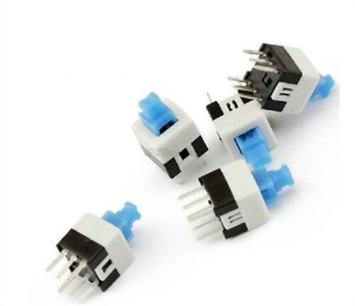 15Pcs Mini Switch On-Off DIP-6PINS Push Button Tactile Latching 7X7MM Ic New rl