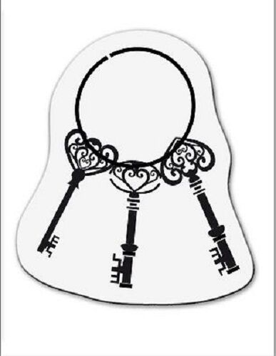 001883//2075 Reduced cArt-Us Clear Acrylic stamp SMALL KEYS ON RING