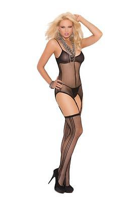 PLUS SIZE LINGERIE FISHNET POTHOLE CAMISETTE G STRING BODY STOCKING Q/S 1X 2X 3X