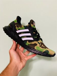 4aaa8f46 Adidas Ultra Boost 4.0 Bape Green Camo - Size 9.5 - NEW AUTHENTIC ...