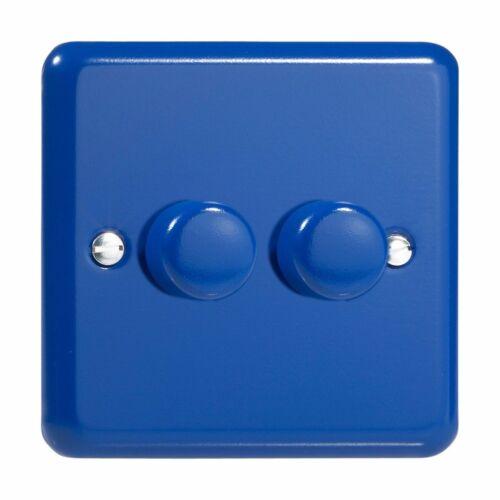 Varilight JYP252.RB Primary Reflex Blue 2 Gang 2 Way DEL Dimmer 0-100 W V-pro