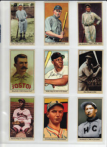 Lot-of-9-Tobacco-Road-cards-Cobb-Mays-Musial-Paige-Shoeless-Joe-amp-more