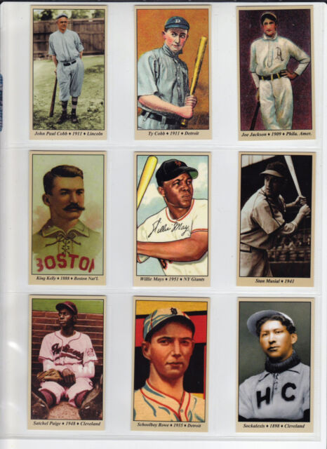 Lot of 9 Tobacco Road cards, Cobb Mays Musial Paige Shoeless Joe & more 🔥