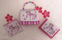 Pink Poppy Lot Of 3 Girls Horse Purse & Wallet Accessories With Tags Pink