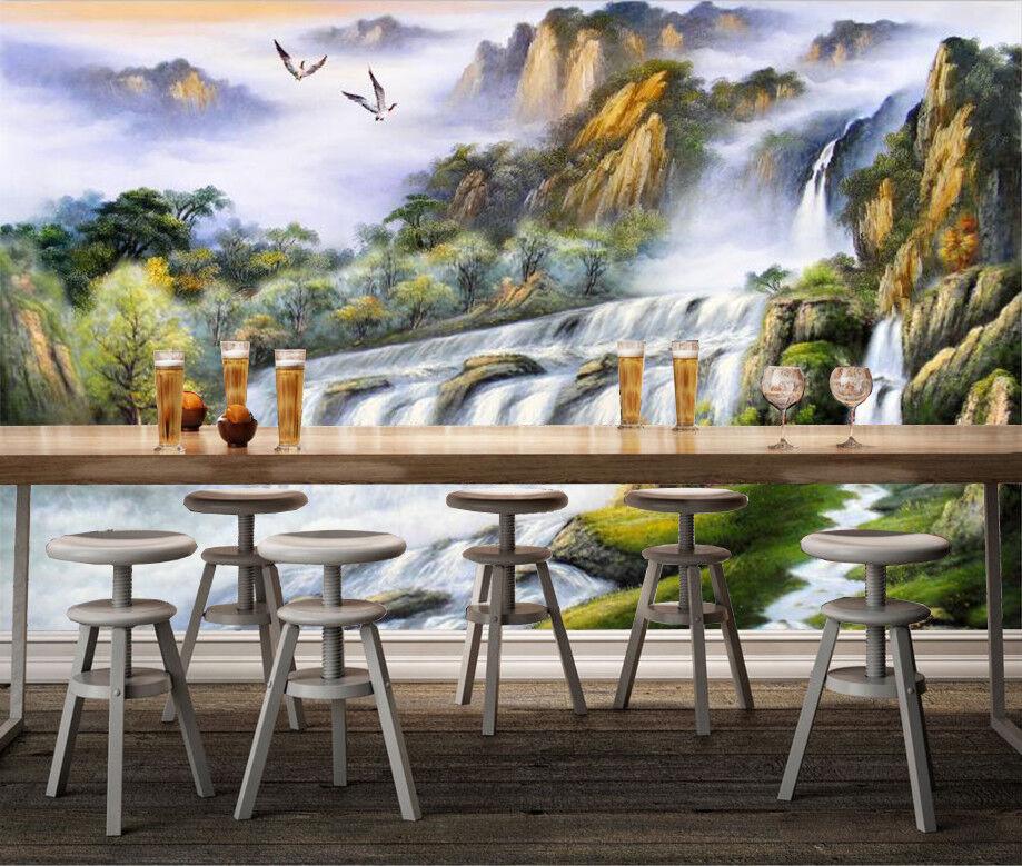 3D Waterfall Tree 87 Wallpaper Mural Wall Print Wall Wallpaper Murals US Carly