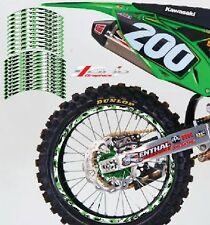 KAWASAKI CAMO RIM STICKERS DECALS GRAPHICS TAPES kxf yzf crf 65 85 125 250 450