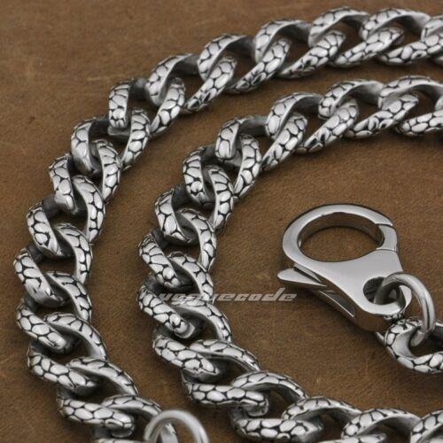 """316L Stainless Steel 14/"""" ~ 36/"""" Mens Boys Biker Rocker Punk Wallet Chain 5A019WCA"""
