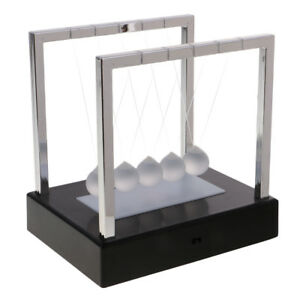 LED-Light-up-Newtons-Cradle-Balance-Balls-Home-Science-Toy-Desk-Decor-Black
