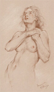 Franco-Matania-1922-2006-20th-Century-Chalk-Drawing-Relief
