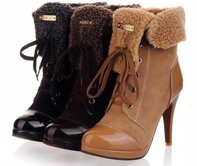 487a1c2c1eb Botines botas zapatos de mujer talón 10 cm mode como piel cómodo 9038