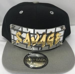 e26cef7fbf857 Image is loading Personalized-Custom-Savage-Snapback-Hat-Six-Panel-Flat-
