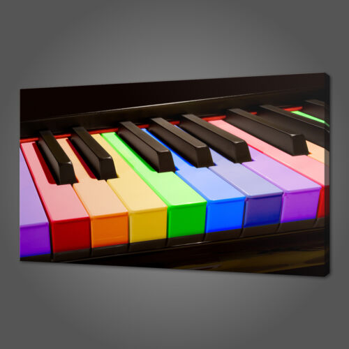 RAINBOW PIANO MUSICAL CANVAS PICTURE PRINT WALL ART HOME DECOR FREE DELIVERY