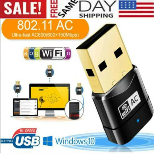 150Mbps Dual Band 2.4GHz WiFi Adapter USB 2.0 Wireless 802.11ac//a//b//g//n Dongle