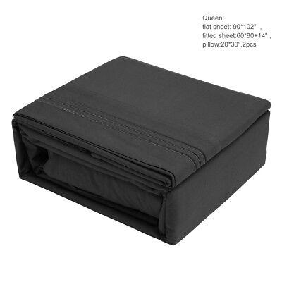LivingBasics® 120G microfiber sheet set of 4 Super Soft 2100 Microfiber, QUEEN