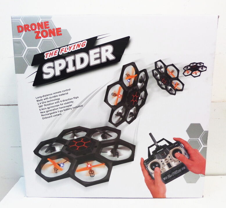 Drone Zone  The Flying Spider  Outdoor 6-Blade Drone